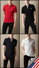 Burberry Brit men's short sleeve nova check placket polo shirt t-shirt