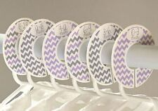 Gray Purple #c164 girl chevron Baby Closet Dividers Clothes Organizers 6