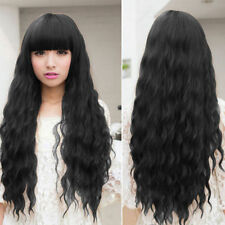 Beauty Fashion Womens Lady Long Curly Wavy Hair Full Wigs Cosplay Party SG