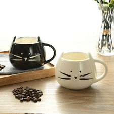 Ceramic Cat Mug White/Black Food Grade Ceramic Coffee Milk Tea Mug Cup LOT RER