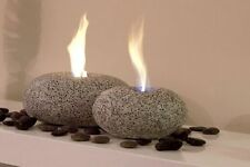 Bio Ethanol fire gel burner large grey pebble