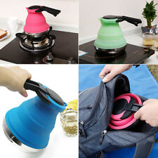 Collapsible Kettle Folding Pop-Up Gas Stove Hot Water Pot For Fishing Camping