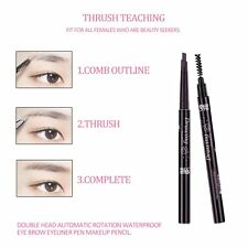 Double Head Automatic Rotation Waterproof Eye Brow Eyeliner Pen Makeup Pencil BE