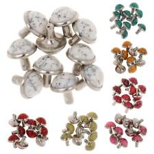 10x Mushroom Rivet Stud Spike Nail Buttons for DIY Leathercraft Decoration 8.5mm