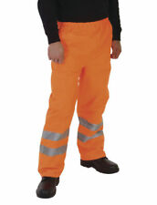 Yoko Hi Vis Waterproof Contractor Trousers - Orange