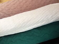 4MTR Patterned Textured Jersey 4 Way Stretch Fabric Material Mauve Teal or White