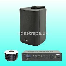 """Adastra 120W Indoor Restaurant Music PA Public Address System 3"""" Wall Speakers"""