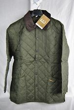 BARBOUR LIDDESDALE JACKET MENS OLIVE LIGHTWEIGHT QUILTED LONG NEW AUTHENTIC