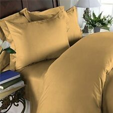 US KING SIZE GOLD SOLID 1000TC 100%EGYPTIAN COTTON  BEDDING COLLECTION