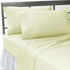 US QUEEN SIZE IVORY SOLID 1000TC 100%EGYPTIAN COTTON BEDDING COLLECTION