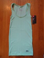 NWT UNDER ARMOUR MINT GREEN TANK TOP FITTED WOMENS XS SMALL MEDIUM LARGE XL