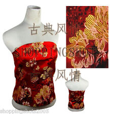 Chinese clothes vest top bellyband corselet 081417 red offer custom made service