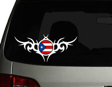 "Puerto Rico Vinyl Car Decal Sticker  7.5"" (w) Puerto Rican Flag Create No2"