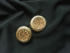 2 units Stylish Designer Gold base w Diamonte Buttons for Crafting dress making