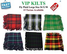 "Kilt Fly Plaid Various Tartan 54"" X 90"" Inch Scottish Acrylic Wool for Shoulder"