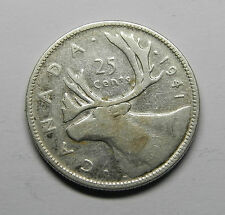 1941 CANADA 25 CENTS SILVER COIN FREE COMBINE SHIPPING