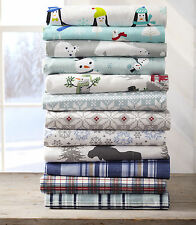 Stratton Collection Printed 100% Cotton Flannel Luxury Sheet Set