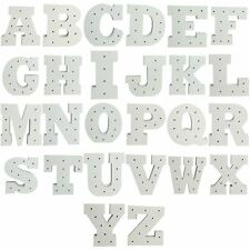 LED Light Up Letters Free Standing Gift Birthday Party Decoration A-Z White