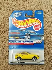 New! Hot Wheels -Yellow Mercedes SLK - 1998 First Editions -11/40 #Collector 646