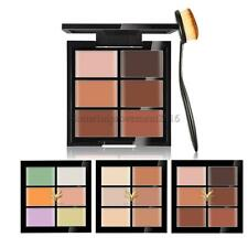 6 Color Concealer Palette Face Makeup Contour Cream Kit with Makeup Toothbrush