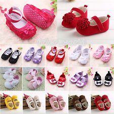 BABY GIRLS TODDLER INFANT WALKING SHOES SOFT SOLE BOW FLOWER PREWALKERS SANDALS