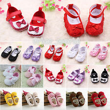 Soft Sole Baby Girls Shoes Anti-slip Toddler Infant Princess Ballerina Prewalker