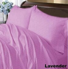 US FULL SIZE -LAVENDER STRIPE 1000TC 100%EGYPTIAN COTTON US SHEET SET