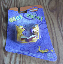 CATDOG ~ 3-D NICKELODEON MAGNET FROM 1999, STILL SEALED ON ORIGINAL DISPLAY CARD