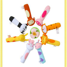 Cute Soft Sound Animal Handbells plush Squeeze Rattle For Newborn Baby Toy