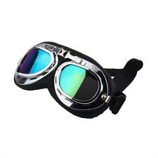 Vintage Anti-UV Motorcycle Scooter Pilot Goggles Helmet glasses Motocross OE