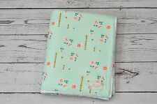 Personalized Handmade Baby Minky Mint Gold Flora Baby Crib Cot Stroller Blanket