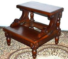 Antique MAHOGANY BED STEP - FREE Shipping [PL3105]