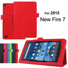 """Colorful PU Leather Cover Case Stand Slim Protective for Amazon Kindle Fire 7"""""""