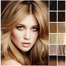 Thick Luxury Clip In Remy Human Hair Extensions Full Head Black Brown Blonde