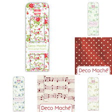 FIRST EDITION | DECO MACHE PAPERS | VARIOUS DESIGNS | 3 SHEETS PER PACK | 22gsm