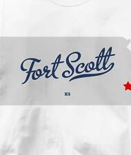 Fort Scott, Kansas KS MAP Souvenir T Shirt All Sizes & Colors