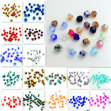 1000pcs 3mm Faceted Bicone Charms Glass Crystal Loose Spacer Beads DIY Findings