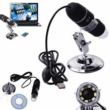 2MP 500/1000X 8LED USB Digital Microscope Endoscope Zoom Camera Magnifier Stand