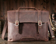 Men's Genuine Leather Laptop Briefcase Attache Handbag Messenger Shoulder Bag