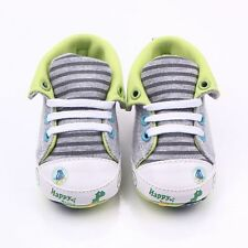 Anti-Slip Cartoon Printed Soles Soft Baby High Shoes for Newborn 0-18 Months