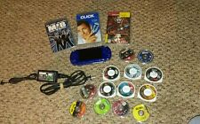 Sony PSP Launch Edition Metallic Blue Handheld System Lot with games! GTA!!!