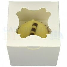 SINGLE ECONOMY CUBE CUPCAKE BOX + DIVIDER CHEAPEST ON EBAY CHOOSE YOUR QTY