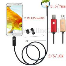 2 In 1 10M 6LED Waterproof Smartphone PC Laptop USB Endoscope Inspection Camera