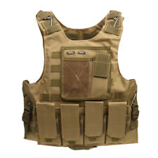 Tactical Military Vest Molle Plate Carrier Paintball Combat Assault Vest
