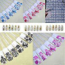 Nail Art Stickers Nail Water Decals Nail Transfers Lace Flowers Floral hot sale