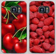 Green Cherry Fruit Raspberry Pattern Hard Case For iPhone 7 8 X Samsung S9 Sony