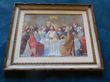 Old Vtg 1955 Religious LAST SUPPER PAINT BY NUMBERS Painting Artist Signed PBN