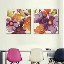 2PC Modern Flower  Frameless Canvas Painting Home Decor Picture for Living Room