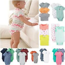 New Carter's Baby Boys Girls 5pack Bodysuits cotton Romper Short Sleeve NB - 24M