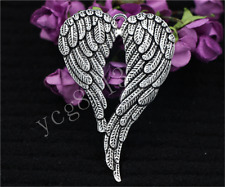 Hot Antique Silver bird large wings Jewelry Finding Charms Pendant 70x47mm